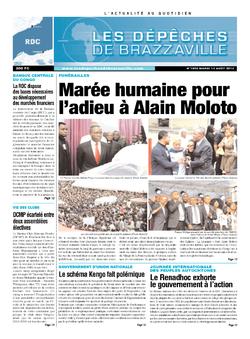 Les Dépêches de Brazzaville : Édition kinshasa du 13 août 2013