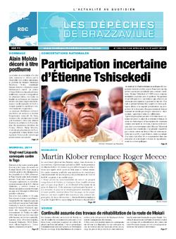Les Dépêches de Brazzaville : Édition kinshasa du 14 août 2013