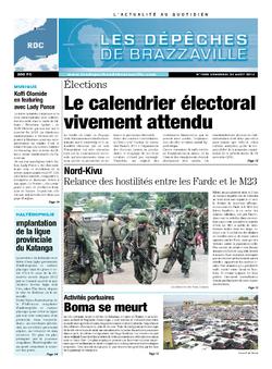 Les Dépêches de Brazzaville : Édition kinshasa du 23 août 2013