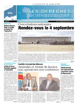 Les Dépêches de Brazzaville : Édition kinshasa du 28 août 2013