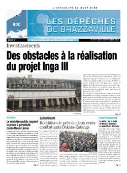 Les Dépêches de Brazzaville : Édition kinshasa du 05 septembre 2013