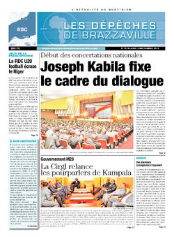 Les Dépêches de Brazzaville : Édition kinshasa du 09 septembre 2013