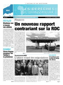 Les Dépêches de Brazzaville : Édition kinshasa du 10 septembre 2013