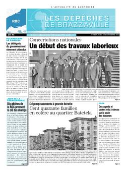 Les Dépêches de Brazzaville : Édition kinshasa du 11 septembre 2013