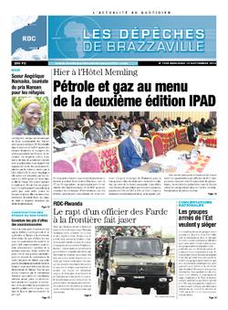 Les Dépêches de Brazzaville : Édition kinshasa du 18 septembre 2013