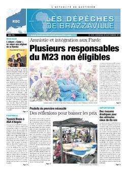 Les Dépêches de Brazzaville : Édition kinshasa du 20 septembre 2013