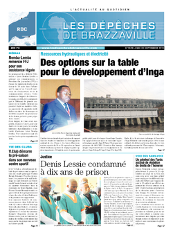Les Dépêches de Brazzaville : Édition kinshasa du 23 septembre 2013