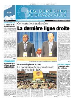 Les Dépêches de Brazzaville : Édition kinshasa du 24 septembre 2013