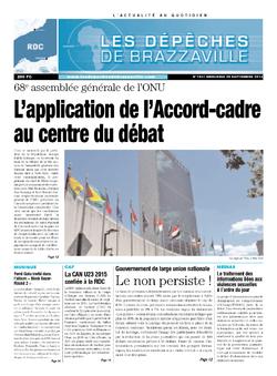 Les Dépêches de Brazzaville : Édition kinshasa du 25 septembre 2013