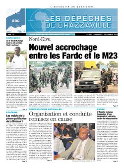 Les Dépêches de Brazzaville : Édition kinshasa du 27 septembre 2013
