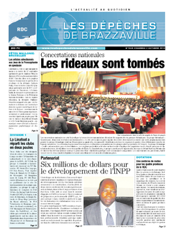 Les Dépêches de Brazzaville : Édition kinshasa du 04 octobre 2013