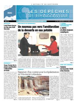 Les Dépêches de Brazzaville : Édition kinshasa du 09 octobre 2013
