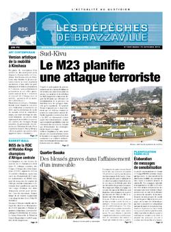 Les Dépêches de Brazzaville : Édition kinshasa du 15 octobre 2013
