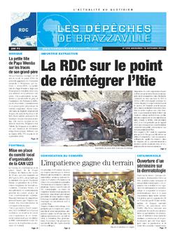 Les Dépêches de Brazzaville : Édition kinshasa du 16 octobre 2013