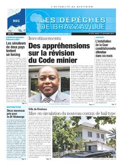 Les Dépêches de Brazzaville : Édition kinshasa du 17 octobre 2013