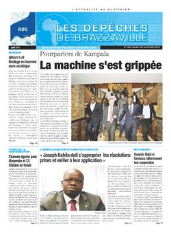 Les Dépêches de Brazzaville : Édition kinshasa du 22 octobre 2013
