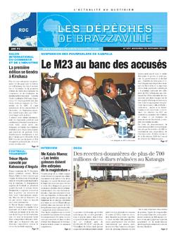 Les Dépêches de Brazzaville : Édition kinshasa du 23 octobre 2013