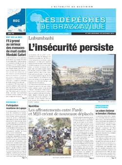 Les Dépêches de Brazzaville : Édition kinshasa du 30 octobre 2013