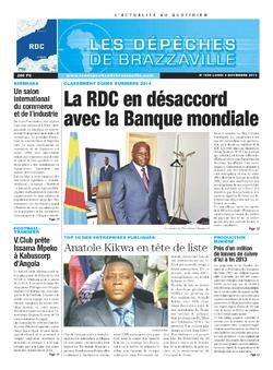 Les Dépêches de Brazzaville : Édition kinshasa du 04 novembre 2013