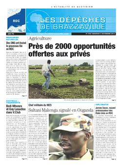 Les Dépêches de Brazzaville : Édition kinshasa du 08 novembre 2013