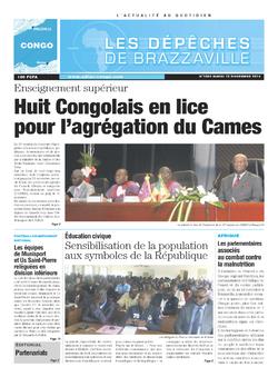 Les Dépêches de Brazzaville : Édition brazzaville du 12 novembre 2013