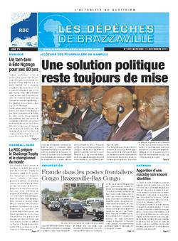 Les Dépêches de Brazzaville : Édition kinshasa du 13 novembre 2013
