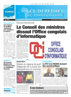Les Dépêches de Brazzaville : Édition brazzaville du 14 novembre 2013