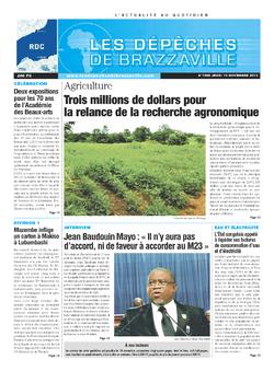 Les Dépêches de Brazzaville : Édition kinshasa du 14 novembre 2013
