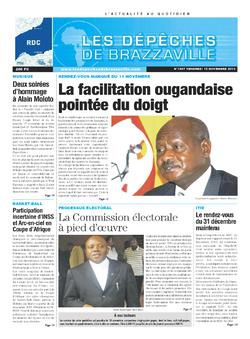 Les Dépêches de Brazzaville : Édition kinshasa du 15 novembre 2013