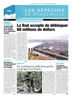 Les Dépêches de Brazzaville : Édition kinshasa du 21 novembre 2013