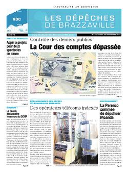 Les Dépêches de Brazzaville : Édition kinshasa du 25 novembre 2013