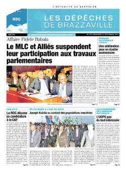 Les Dépêches de Brazzaville : Édition kinshasa du 27 novembre 2013