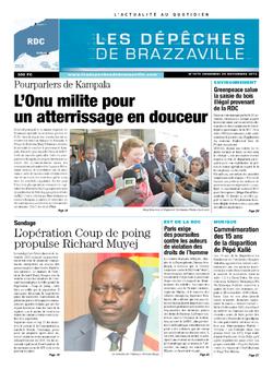 Les Dépêches de Brazzaville : Édition kinshasa du 29 novembre 2013