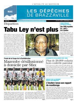 Les Dépêches de Brazzaville : Édition kinshasa du 02 décembre 2013