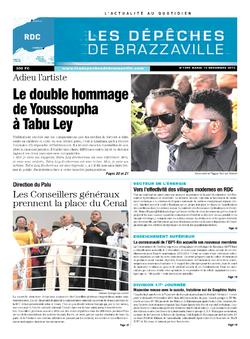 Les Dépêches de Brazzaville : Édition kinshasa du 10 décembre 2013