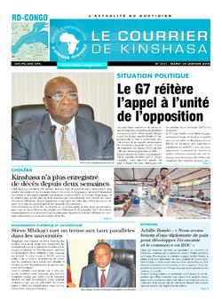 Les Dépêches de Brazzaville : Édition brazzaville du 30 janvier 2018
