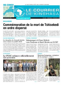 Les Dépêches de Brazzaville : Édition brazzaville du 02 février 2018