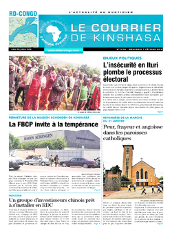 Les Dépêches de Brazzaville : Édition brazzaville du 07 février 2018