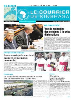 Les Dépêches de Brazzaville : Édition brazzaville du 08 février 2018