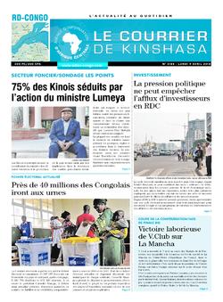 Les Dépêches de Brazzaville : Édition brazzaville du 09 avril 2018
