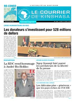 Les Dépêches de Brazzaville : Édition brazzaville du 16 avril 2018