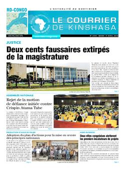 Les Dépêches de Brazzaville : Édition brazzaville du 17 avril 2018