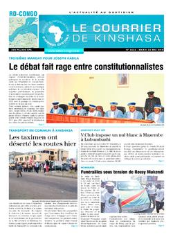 Les Dépêches de Brazzaville : Édition brazzaville du 22 mai 2018