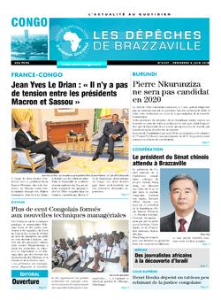 Les Dépêches de Brazzaville : Édition brazzaville du 08 juin 2018