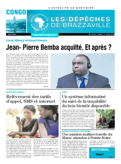 Les Dépêches de Brazzaville : Édition brazzaville du 11 juin 2018