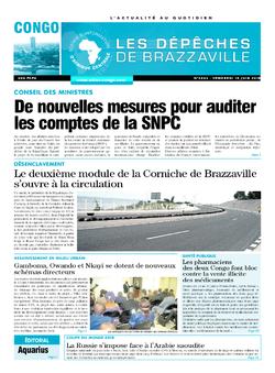 Les Dépêches de Brazzaville : Édition brazzaville du 15 juin 2018