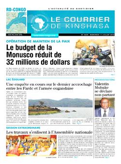 Les Dépêches de Brazzaville : Édition brazzaville du 11 juillet 2018