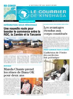 Les Dépêches de Brazzaville : Édition brazzaville du 19 juillet 2018