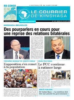 Les Dépêches de Brazzaville : Édition brazzaville du 24 juillet 2018