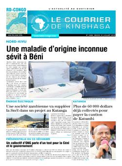 Les Dépêches de Brazzaville : Édition brazzaville du 31 juillet 2018